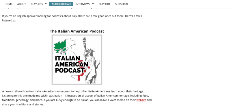 "Write-up about the podcast on ""Podcast Broadcast"" website."