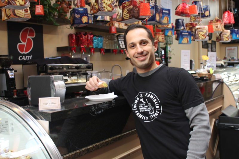 Anthony Fasano of The Italian American Podcast at Mike's Deli on Arthur Avenue